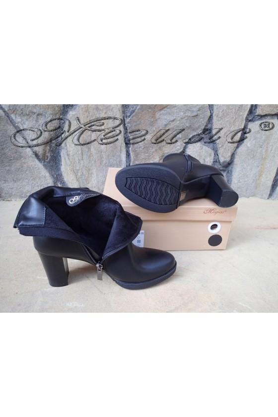 Дамски боти черни с висок ток от еко кожа  Christine 20w18-351