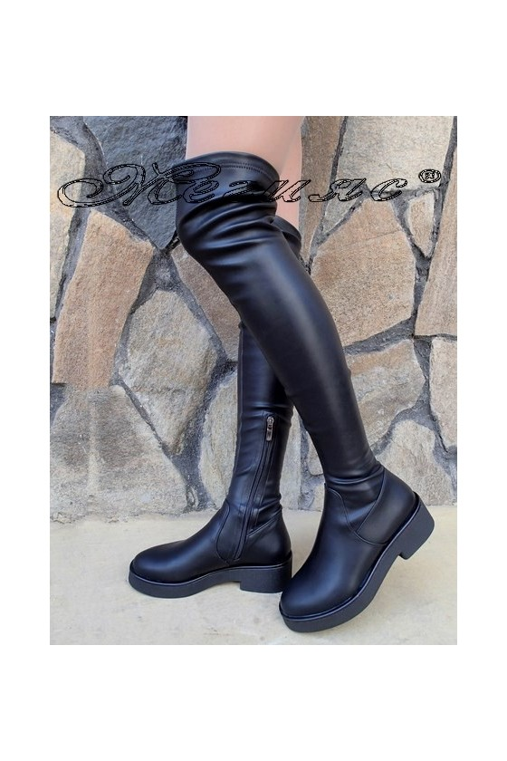 Lady boots Christine 20W18-326 black pu