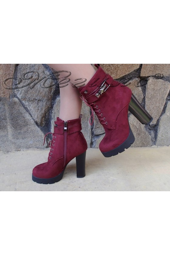 Lady boots Christine 20W17-238 wine suede