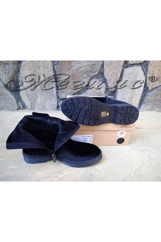 Lady boots Christine 20w18-301 black velvet