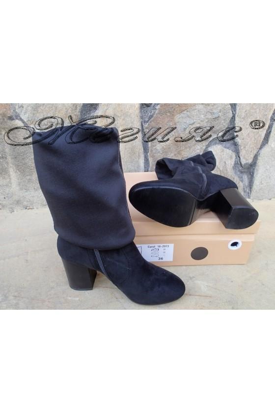 Lady boots Carol  W18-2073 black suede