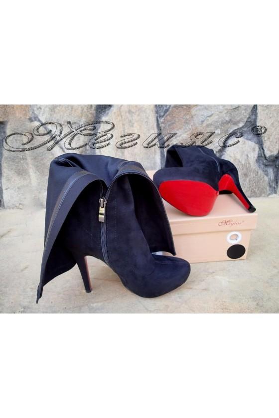 Lady boots Carol W18-2076 black suede