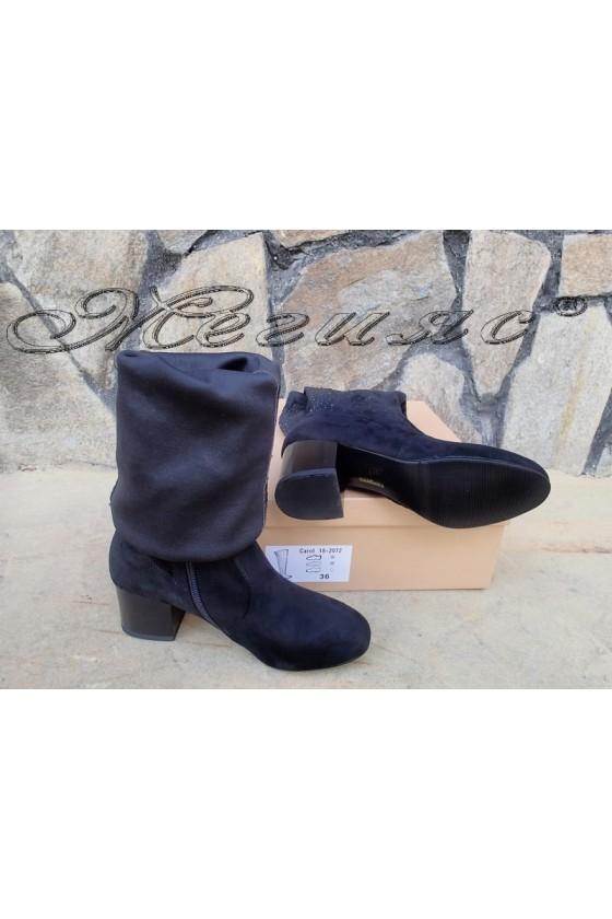 Lady boots Carol W18-2072 black suede