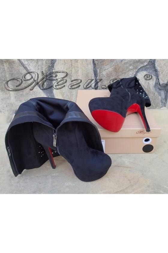 Lady boots Carol W18-2080 black suede
