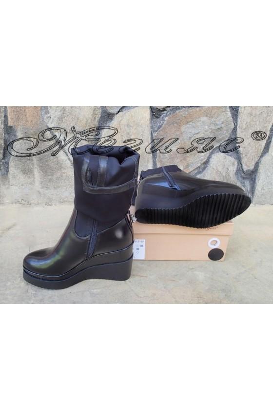 Lady boots Carol W18-2189 black pu