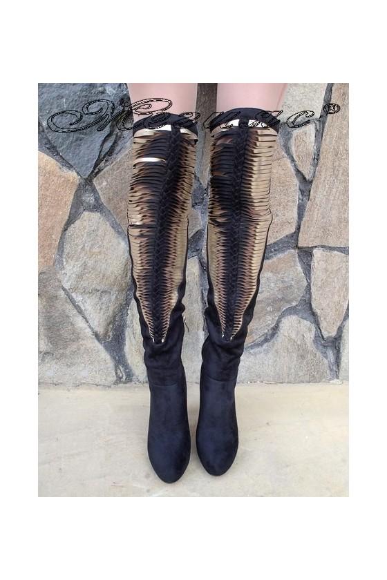 Lady boots Carol W18-2200 black nubuck