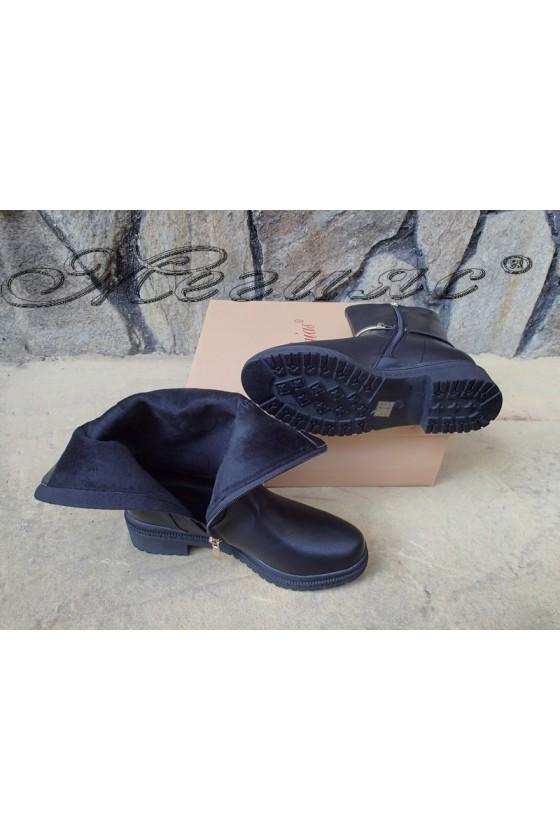 Дамски боти черни от еко кожа Christine 20w18-355