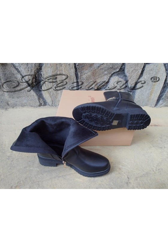 Lady boots Christine 20w18-355 black pu