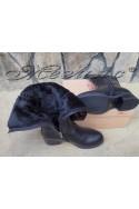Дамски ботуши Carol W18-2198 черни от еко кожа