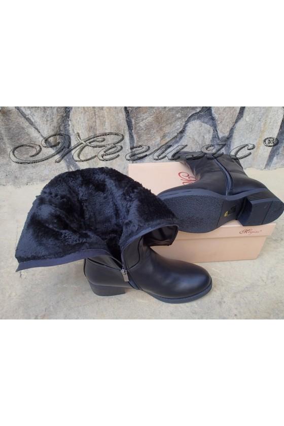 Lady boots Carol  W18-2198 black pu