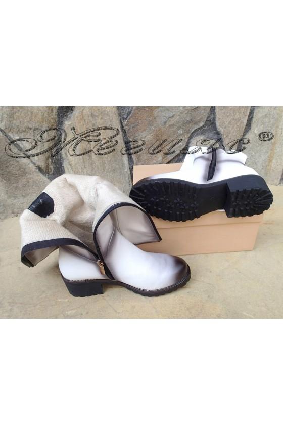 Lady boots Carol W18-2048 white pu