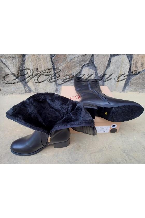 Lady boots Carol W18-2048 black pu