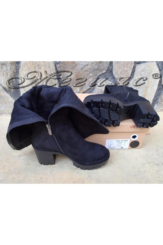 Lady boots Carol W18-2026 black suede
