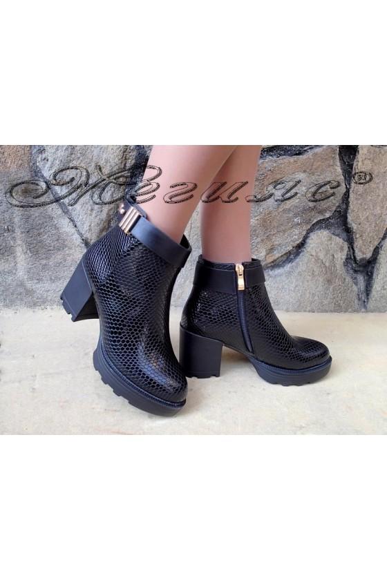 Lady boots Carol W18-2038 black pu