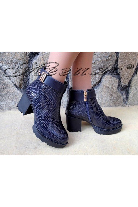Lady boots Carol W18-2038 blue pu