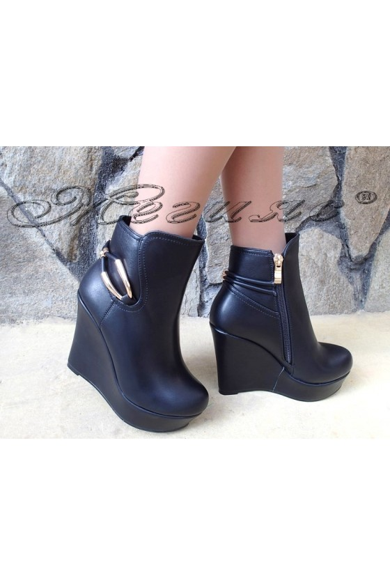 Lady boots Carol W18-2031 black pu