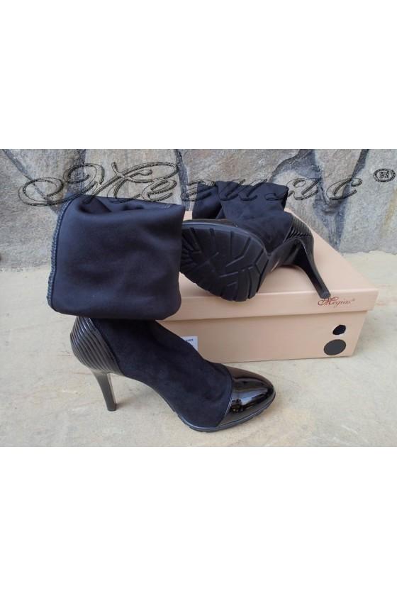 Lady boots Carol 20W18-2002 black suede