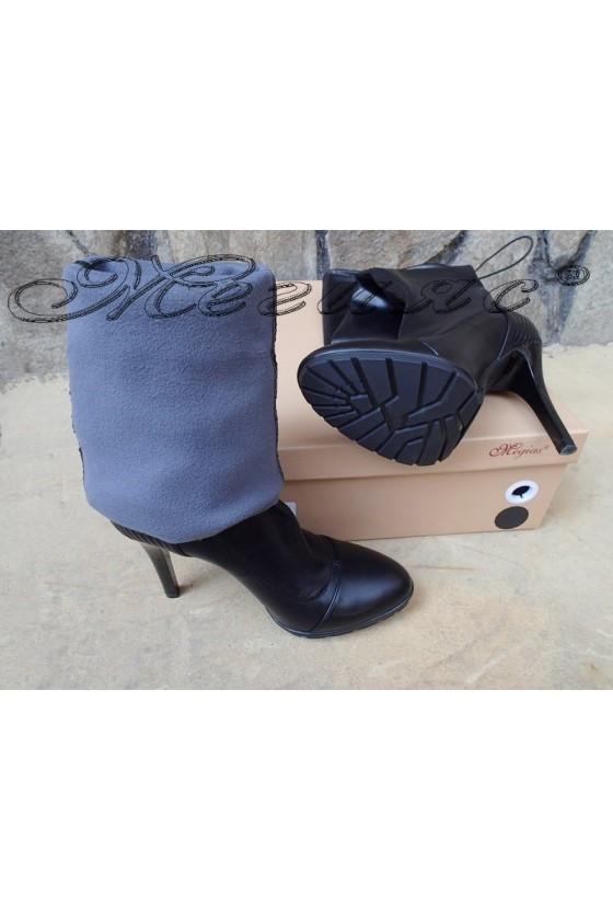 Lady boots Carol 20W18-2003 black pu