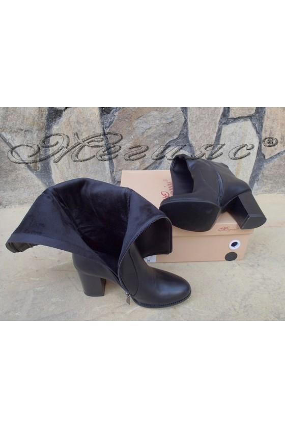 Lady boots Carol 20W18-2024 black pu