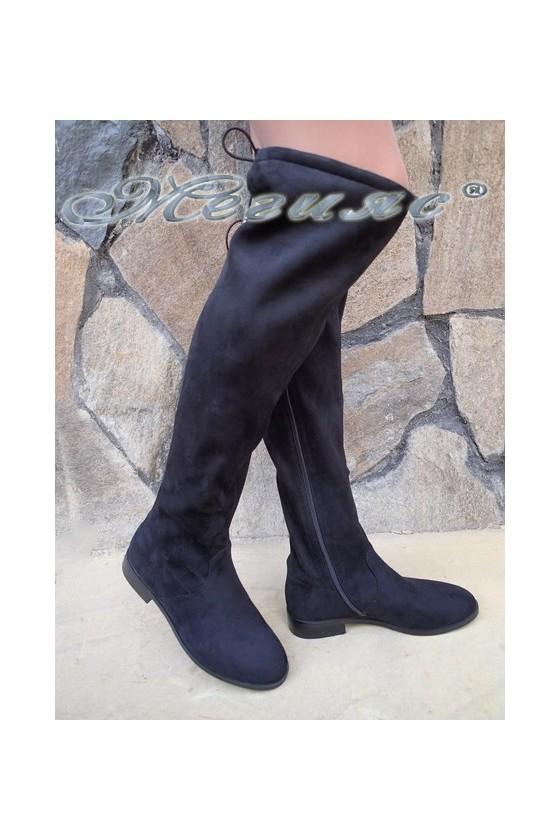 Lady boots Carol 20W18-2033 black suede