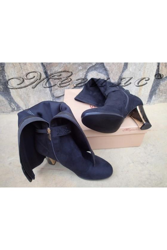 Lady boots Carol 20W18-2004 black suede