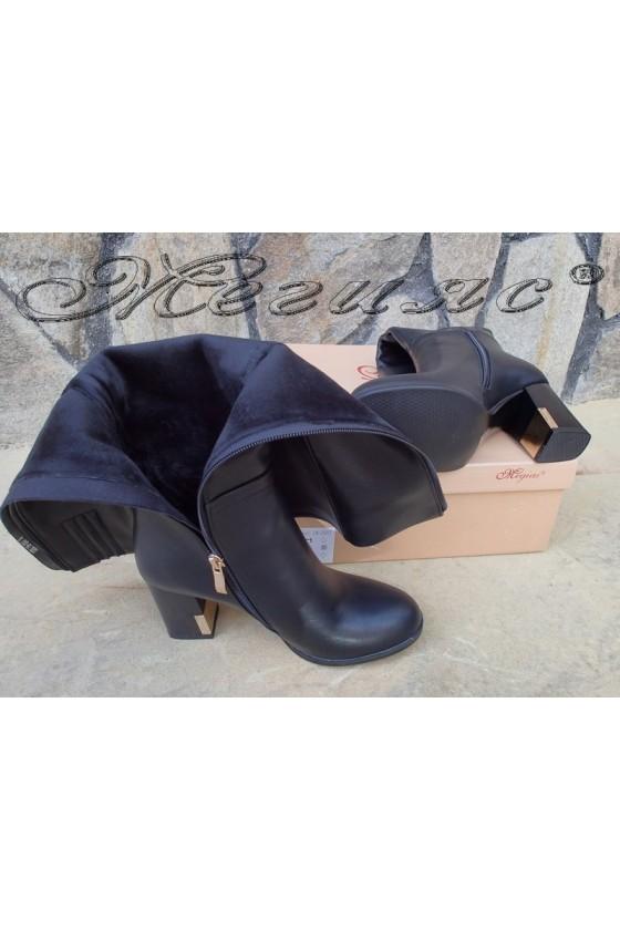 Lady boots Carol 20W18-2007 black pu with high heel