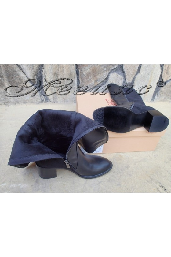 Lady boots Carol 20W18-2021 black pu and suede