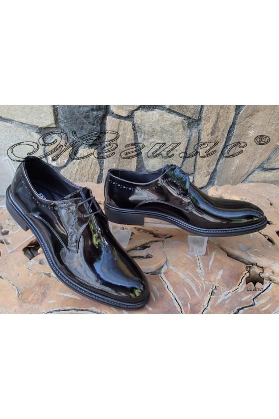 Men's elegant shoes Fenomen 3003 black patent