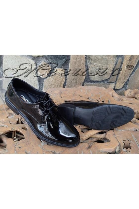 Мъжки обувки Fenomen 3003 черни лак елегантни
