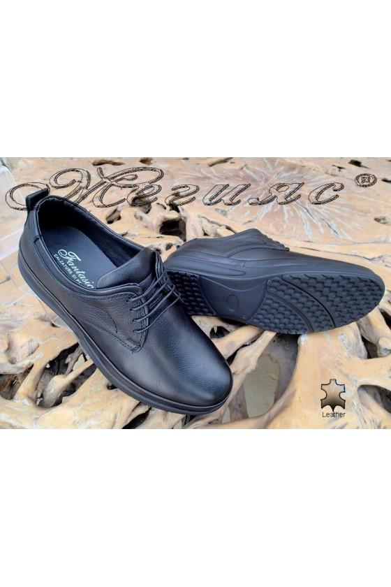 Men's shoes  043-80 black leather