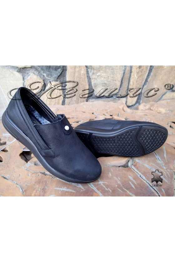 Lady sport shoes 513/20 black leather