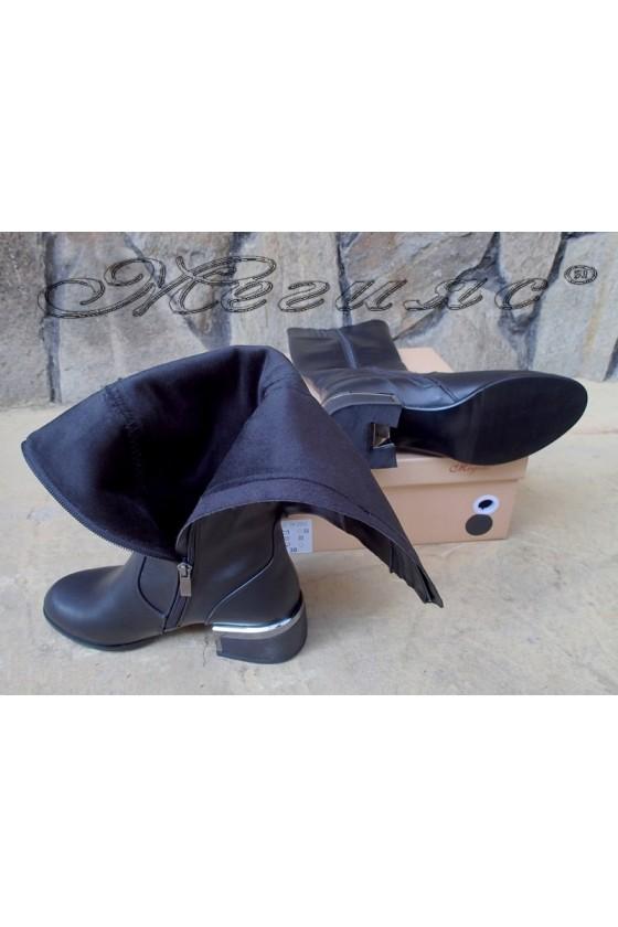 Lady boots Carol 20W18-2050 black pu