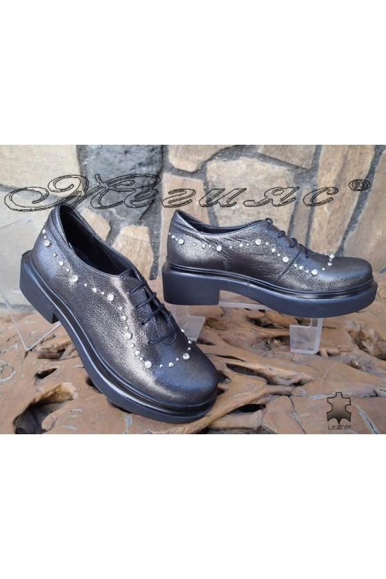 Дамски обувки 49-09 графит от естествена кожа