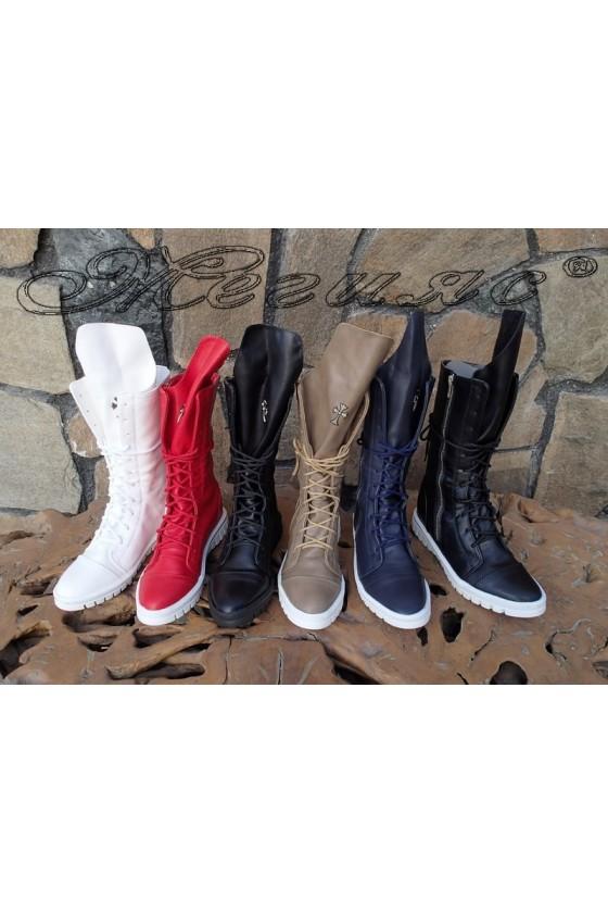 Women sport boots Annette 20w18-306-1 dark blue pu