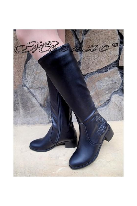 Lady boots Carol  20W18-2058 black pu