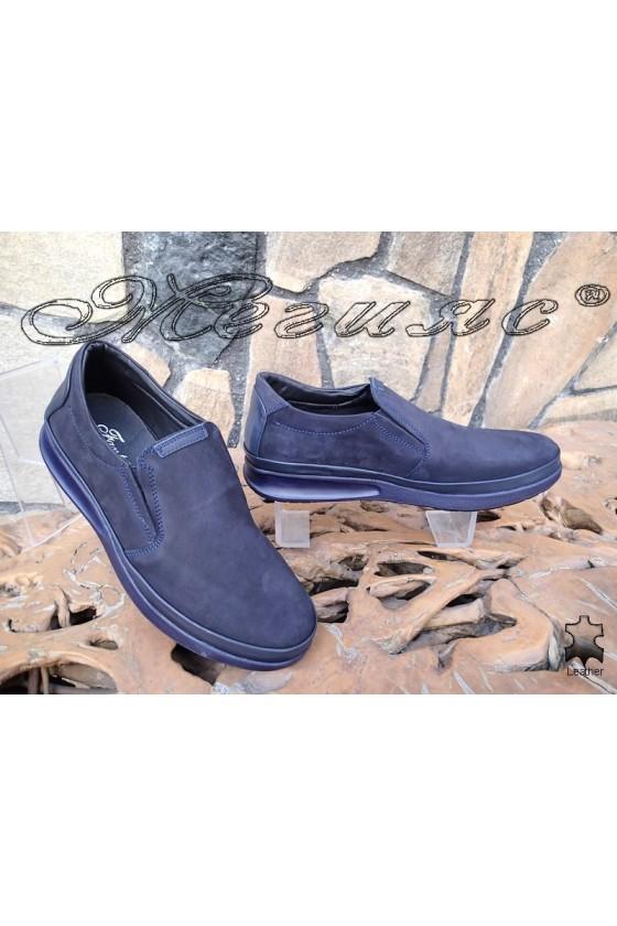 Men's shoes 042-20-80 blue suede