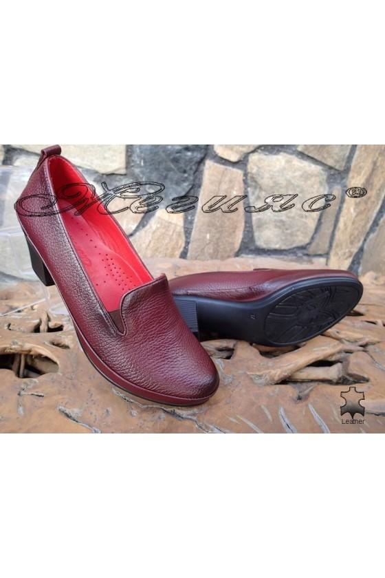 Women shoes 11-K wine leather