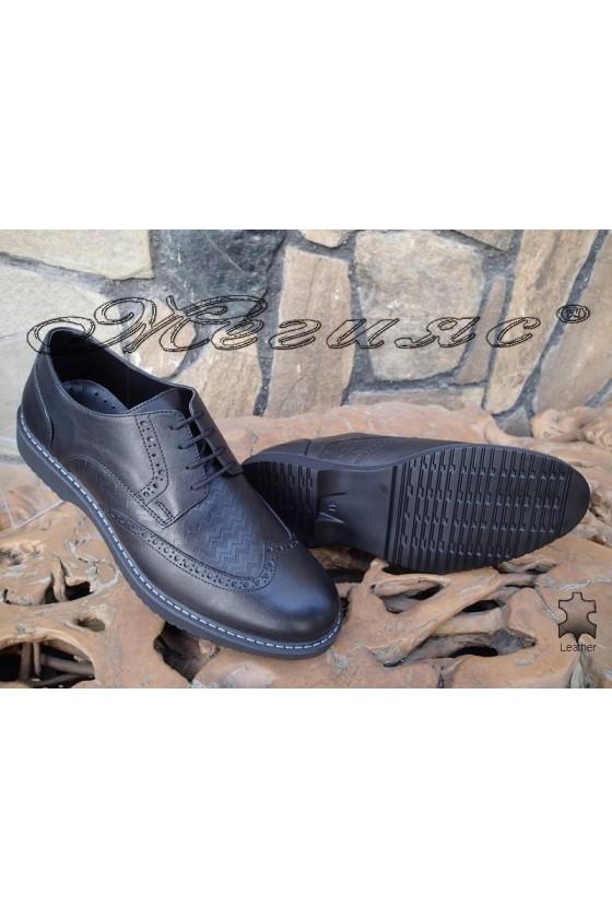 Men's elegant shoes  14502-245 black leather