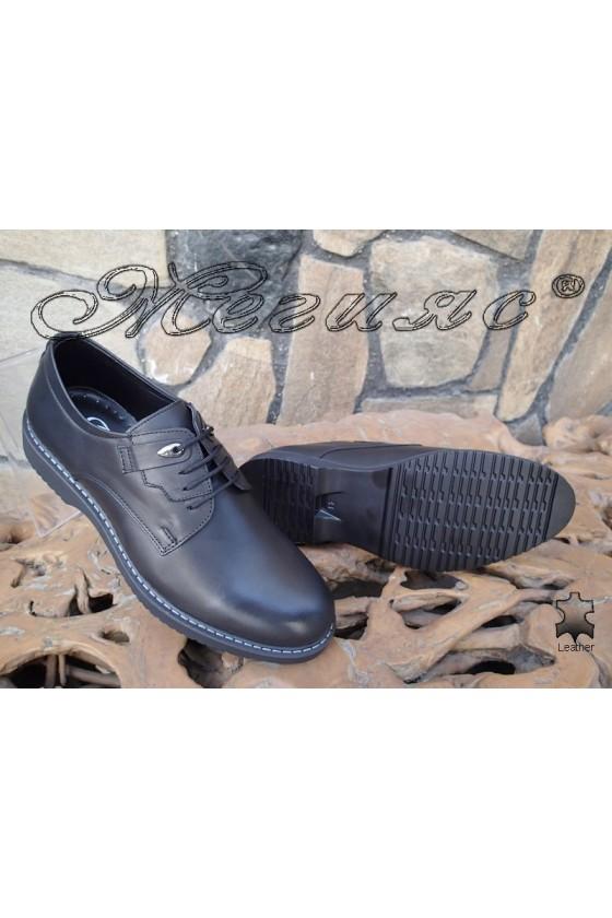 Мъжки обувки Фантазия 14503 черни естествена кожа