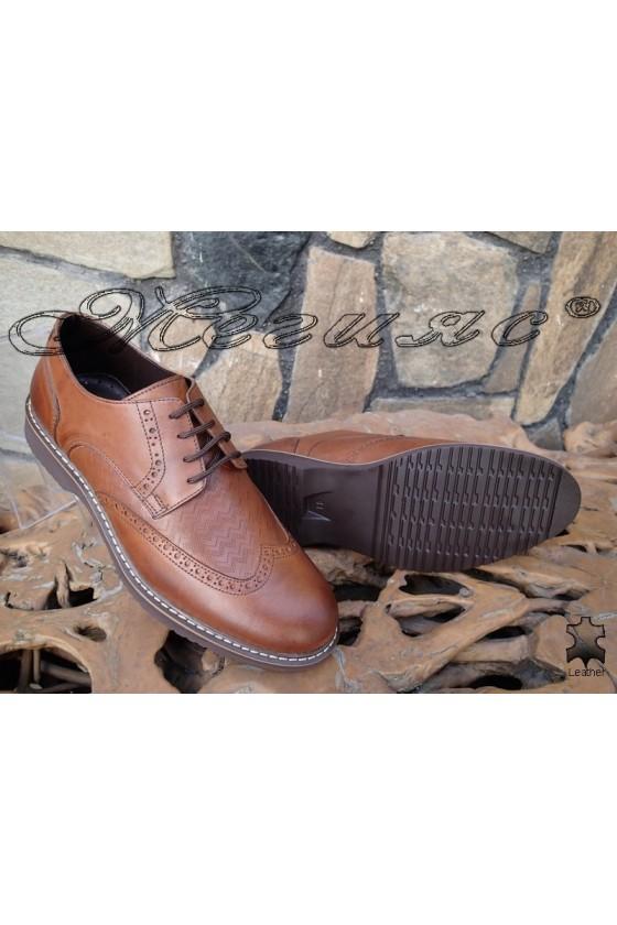 Мъжки обувки Фантазия 14502-245 таба естествена кожа
