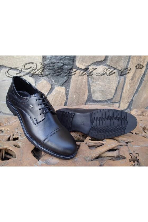 Мъжки обувки Фантазия 14303 черни естествена кожа