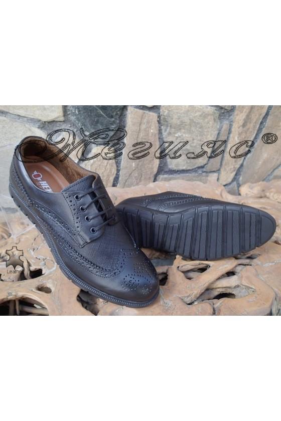 Men's shoes 1017 black leather