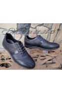 Мъжки обувки Фантазия 17802-189 черни от естествена кожа