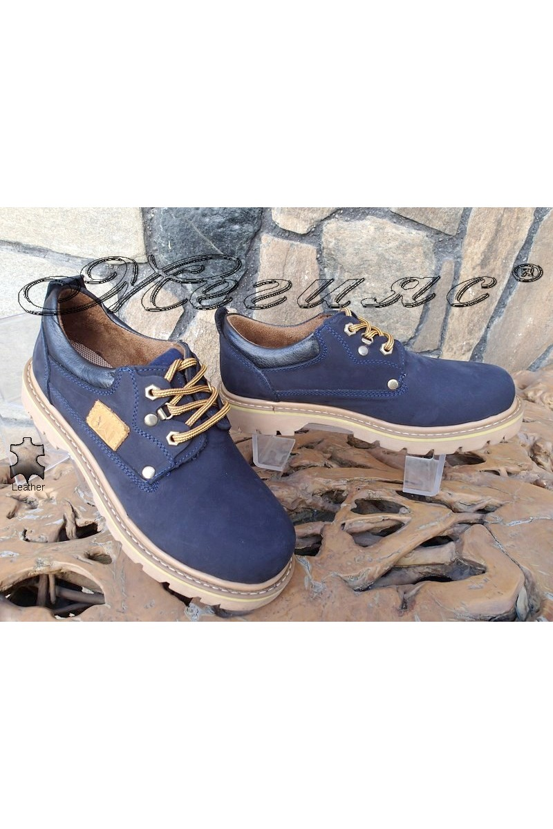 Мъжки обувки САТ 10 сини от естествен набук