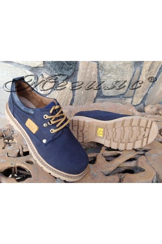 Men's shoes 10 blue leather