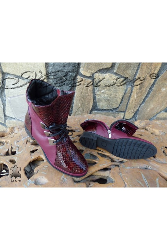 Lady boots 4127 wine  leather