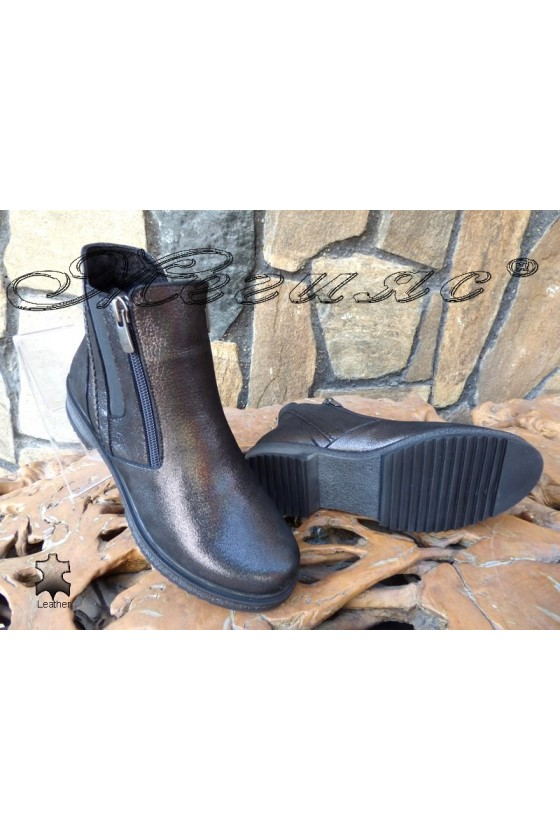 Lady boots 60-02 black  leather