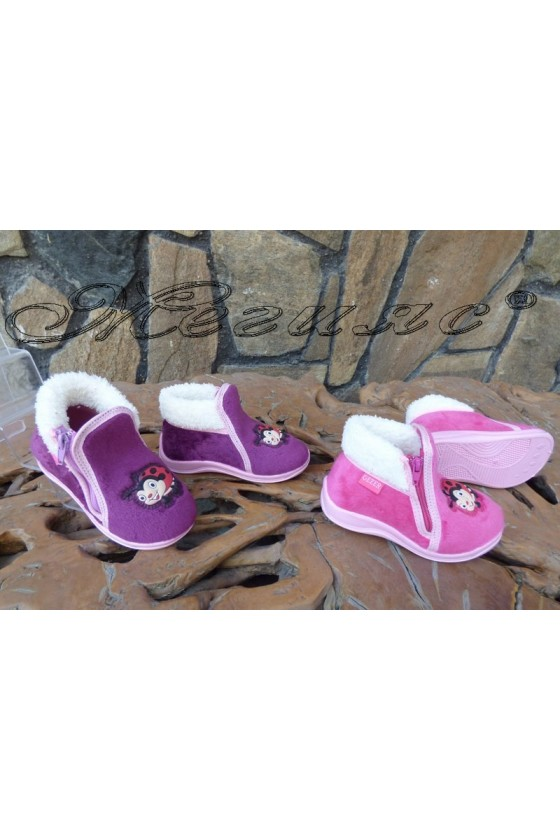 Children's slippers 02281 purple/pink