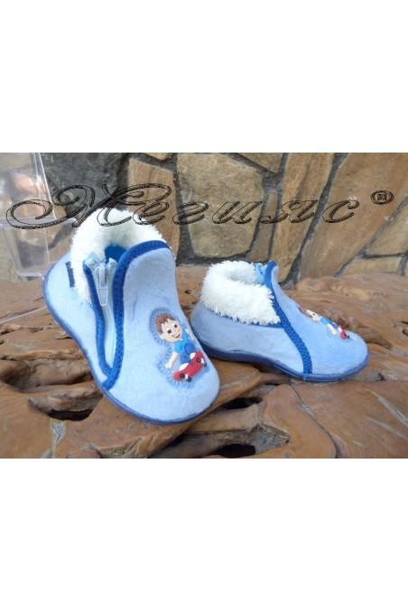 Children's slippers 02281 blue