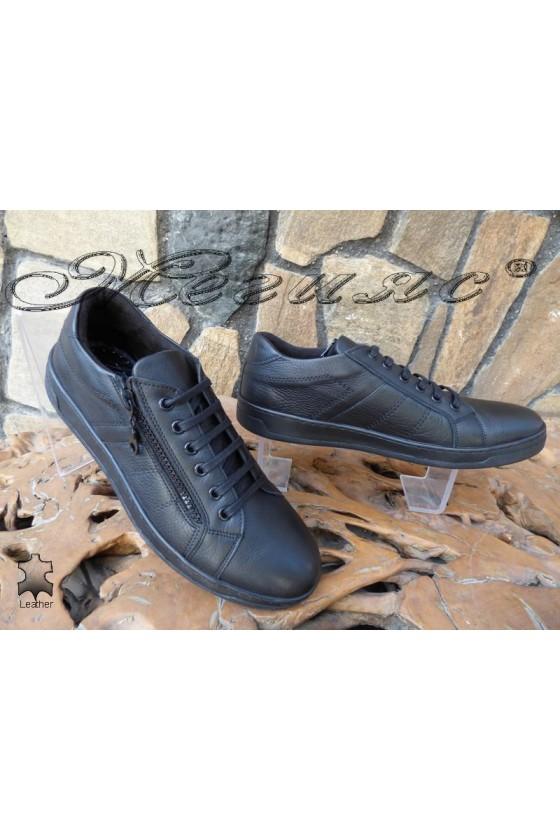 Men's shoes DMT 111 black leather
